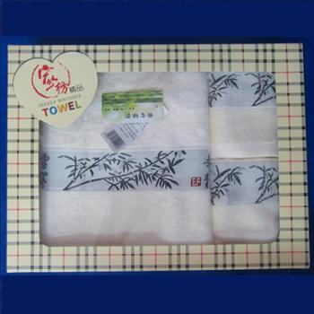 乐竹 竹纤维毛巾浴巾礼盒 (2条毛巾+1条浴巾)