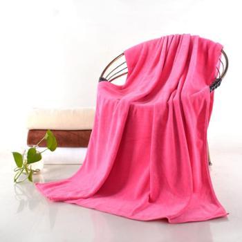乐竹 加大超细纤维吸水浴巾,90*150cm 加宽加长 单条装