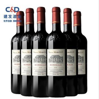 莫堡法国波尔多法定产区AOC级干红750ml*6瓶