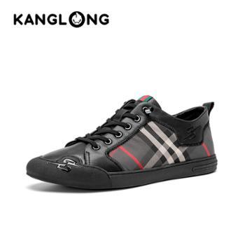 康龙男士休闲鞋新款百搭透气户外运动鞋