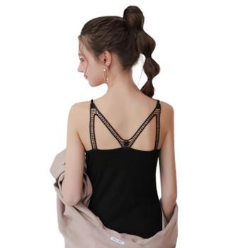 亲春韩版女式蕾丝M美背吊带背心B352