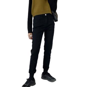 gangsta2019款高腰微弹力修身显瘦九分秋冬牛仔裤NZ27