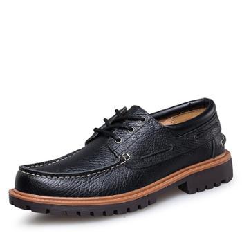 上匠风华头层牛皮男士帆船鞋5087