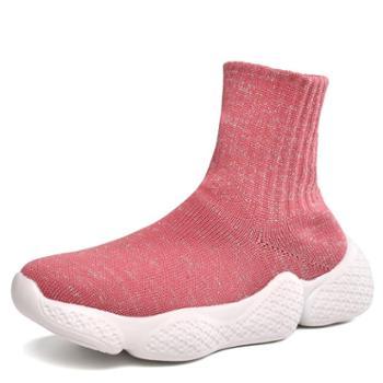 上匠风华女童飞织袜子鞋617