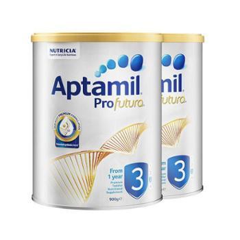 Aptamil【2件装】澳洲爱他美白金版幼儿配方奶粉3段900克/罐