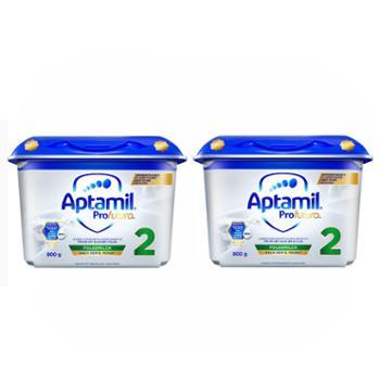 Aptamil【2件装】德国爱他美白金版婴幼儿奶粉2段(适合6-12个月)800克/盒