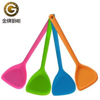 中式炫彩硅胶铲 金牌厨柜出品 不粘锅炒菜铲子厨具 厨房锅具好伴侣