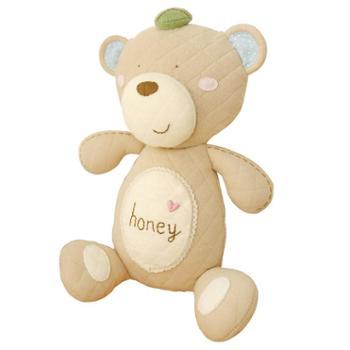 哈尼手工婴幼儿安抚玩具熊宝宝哄睡玩偶布艺手工娃娃diy材料包