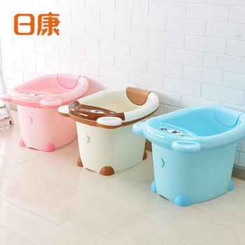 日康儿童洗澡桶宝宝加厚浴桶婴儿新生儿沐浴桶可坐小孩泡澡桶家用