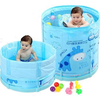 宝宝洗澡桶儿童泡澡桶大号婴儿游泳家用圆形6-10岁小孩可折叠浴桶