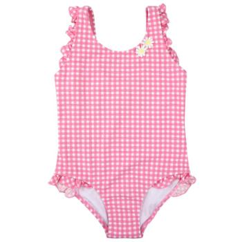 弈姿 弈姿儿童游泳衣 女童宝宝婴童连体泳衣 小中大童三角可爱温泉泳装