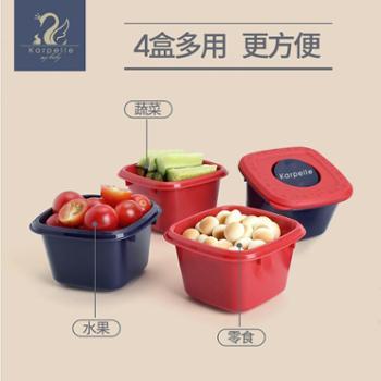 karpelle/卡培莱 婴儿辅食盒外出便携餐具宝宝保鲜密封冷冻盒零食盒