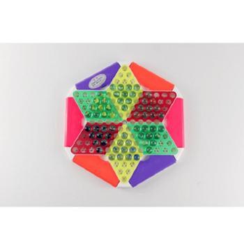 健乐 儿童跳棋大号学生棋牌玩具早教益智桌面游戏六角弹珠