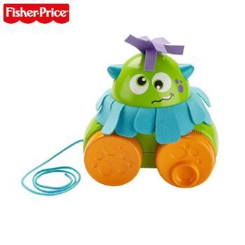 FISHER-PRICE/费雪小怪兽学步拖拖乐宝宝拉绳学步玩具车儿童牵引玩具
