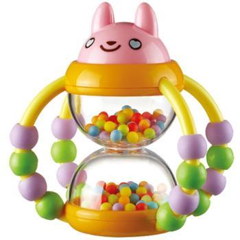 Auby/澳贝花篮沙漏手摇铃宝宝玩具新生婴儿摇铃玩具锻炼手指灵活