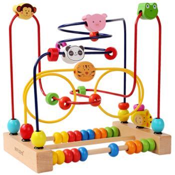 婴幼儿童益智绕珠玩具2-3周岁宝宝6-10个月男女孩子串珠早教积木