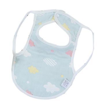 婴幼儿按扣围兜A类棉纱布套头背心式围兜围嘴