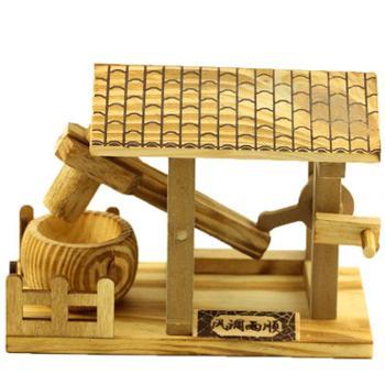木质家居装饰摆件创意水碓仿古工艺纪念礼品田园风格
