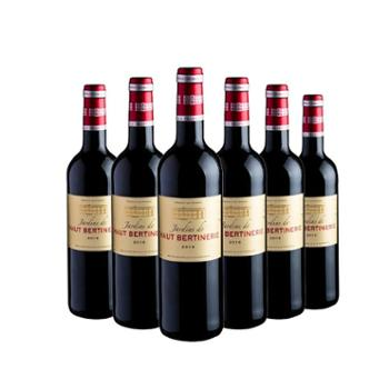 丰原食品法国波尔多奥博蒂古堡花园干红葡萄酒6瓶