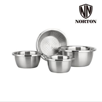 诺顿腾宝家用料理盆套装304不锈钢5GTB004