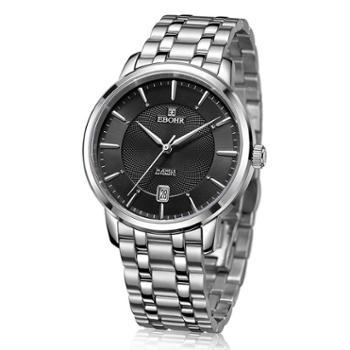 依波表机械表男士不锈钢手表休闲潮流时尚男表30100213