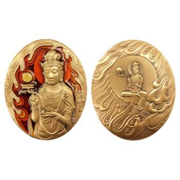 中国佛像纪念章(第四组)日光菩萨小铜章