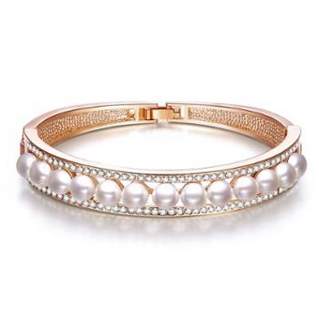 仙蒂瑞拉SANDYRILLA幸福之环5.5-6mm近圆珍珠手镯附证书XDRL2272