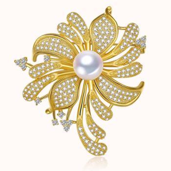 仙蒂瑞拉SANDYRILLA精致豪华款11-11.5mm名媛系珍珠胸针【附证书】
