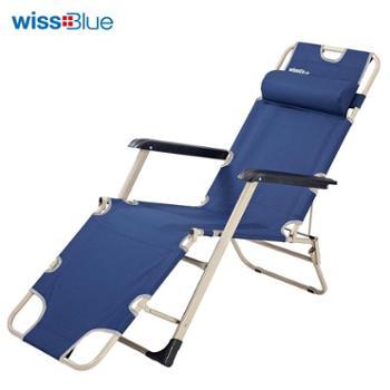 维仕蓝(Wissblue)单人三用折叠床沙滩床办公室午休床WD5031-B蓝色