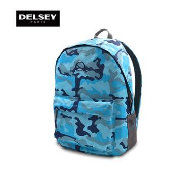 法国大使DELSEY迷彩双肩包背包