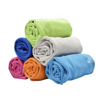 夏季冰凉巾冰凉降温速干毛巾双层双色(单条)