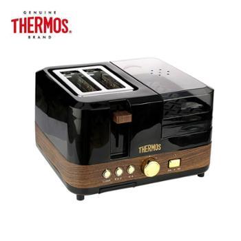 膳魔师/THERMOS 多功能一体机早餐机 EHA-5311A-B 可烤煮煎