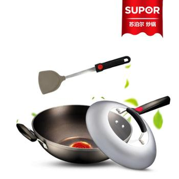 Supor/苏泊尔 【PC32H4】32厘米 火红点3代钛Pro 无油烟不粘炒锅