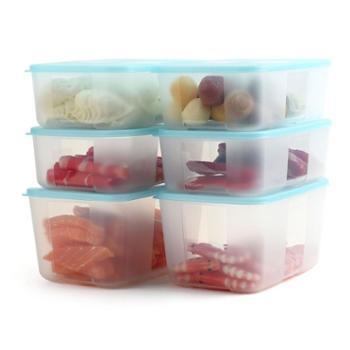 特百惠 冰箱冷冻冷藏储藏盒1.7L/2.6L密封保鲜盒 冰鲜冷冻大型6件套