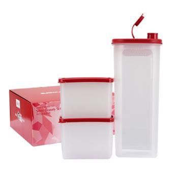 特百惠 2L纤巧壶食物制备保鲜盒组合3件套
