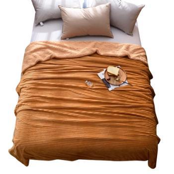 伊伊爱双层加厚芬兰绒复合绒毯保暖毛毯