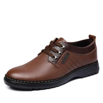 米斯康男鞋男士鞋商务休闲鞋英伦系带鞋男981-2