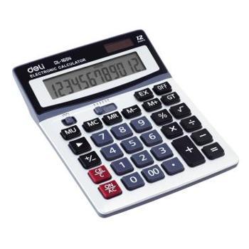 得力(deli)1654经济型大屏幕计算器财务专用太阳能大按键计算机赠电池