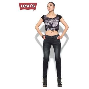 (三折特价)levi's李维斯修身小脚拼布牛仔裤48260-0001
