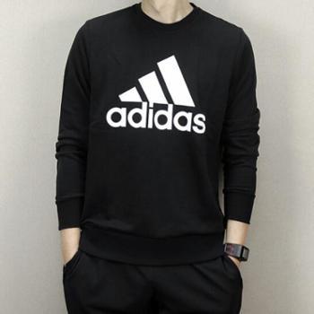阿迪达斯男子运动休闲舒适透气圆领长袖卫衣套头衫CD6275SF