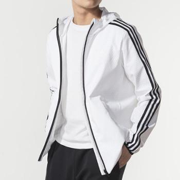Adidas阿迪达斯黑白男装运动休闲透气舒适夹克外套DW4620