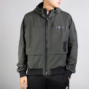 adidas阿迪达斯男子加绒保暖运动休闲夹克外套FJ0262
