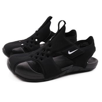 Nike耐克童鞋男女小童防水包头魔术贴透气沙滩凉鞋943826-001