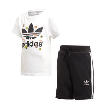 阿迪达斯adidas三叶草SHORTSET小童装短袖运动套装FT8768