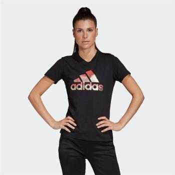adidas阿迪达斯女装运动休闲圆领短袖T恤FJ5010