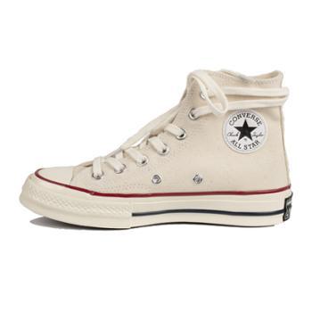 CONVERSE匡威1970s男女经典三星标米色高帮复古帆布休闲鞋162053C