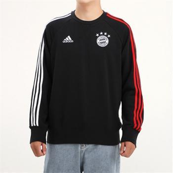 阿迪达斯adidas男装拜仁足球运动套头衫卫衣FR5323