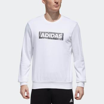 Adidas阿迪达斯CREWSWTLOGO男装运动型格套头卫衣DW4607