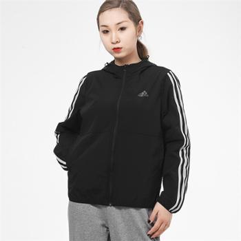 阿迪达斯adidas女装训练运动休闲夹克外套GQ0596