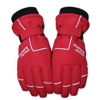 埃尔蒙特ALPINTMOUNTAIN男女加厚防风骑车滑雪防寒保暖手套